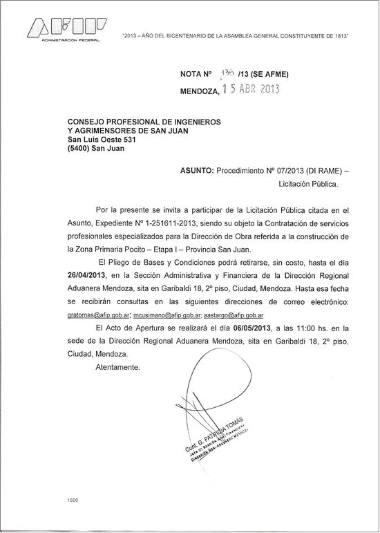 Licitación Civiles 2013